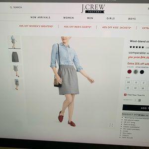 Brand New Size 14 JCrew Factory Sidewalk Skirt